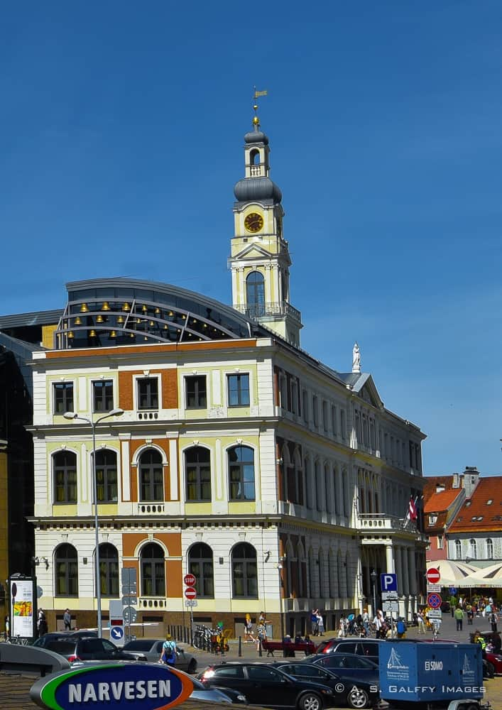Town Hall Building in Old Town Riga