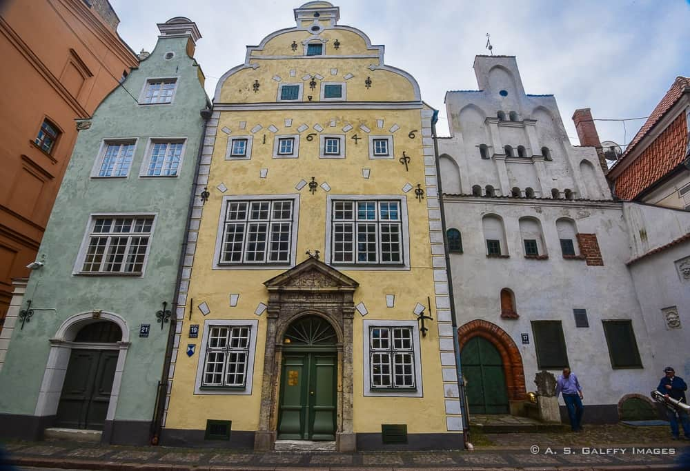 The Three Brothers buildings in Old Town Riga