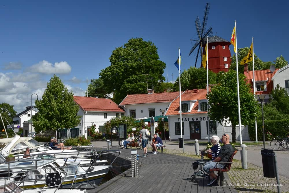 Strängnäs harbor area