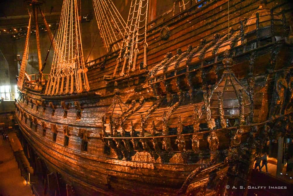View of the Vasa wreckage at the Vasa Museum