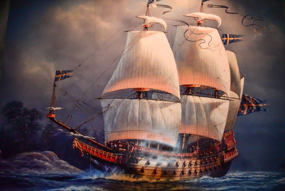 Painting representing the Vasa ship