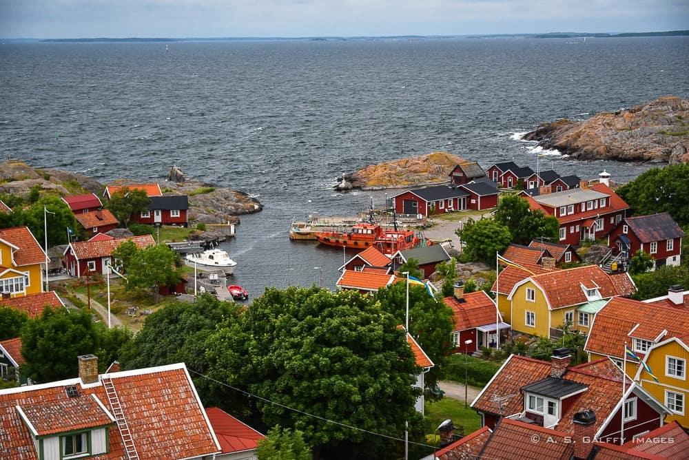 View of the village of Landsort