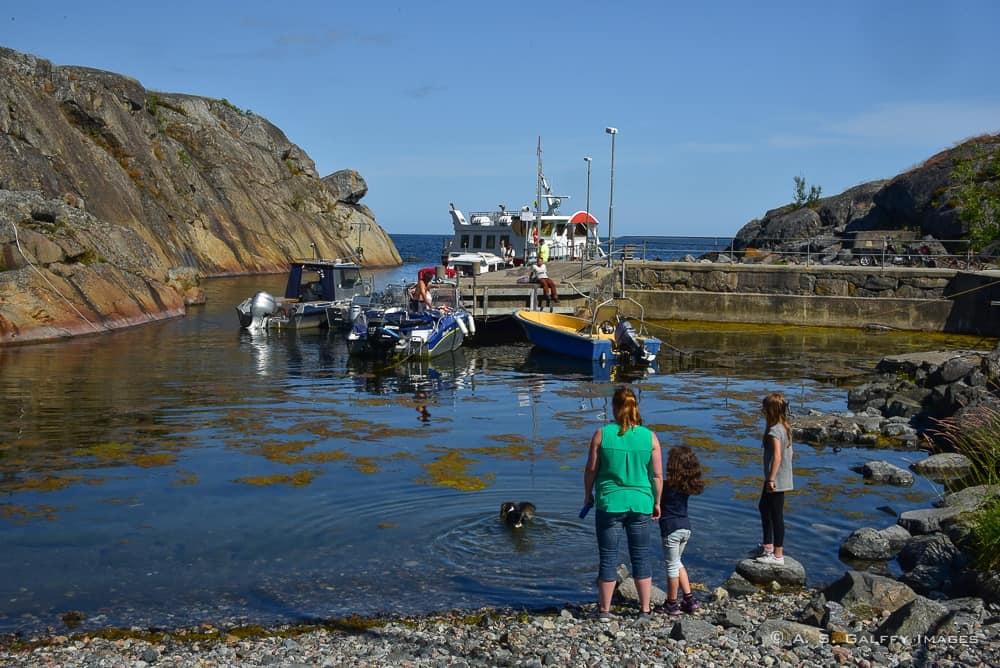 the port of Landsort - best day trips from Stockholm