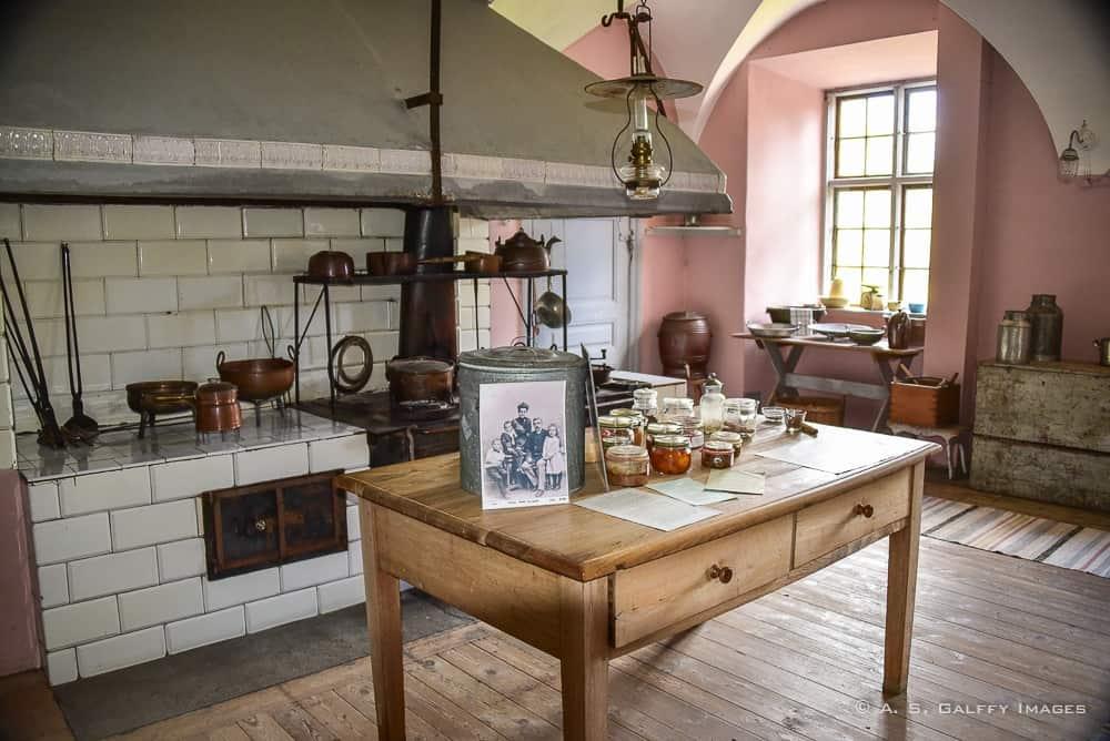 the kitchen at Nynäs Manor