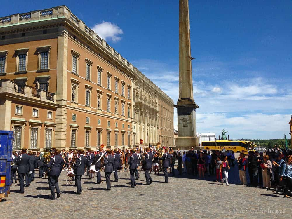 Changing of the guards ceremony at the Royal Palace, Stockholm