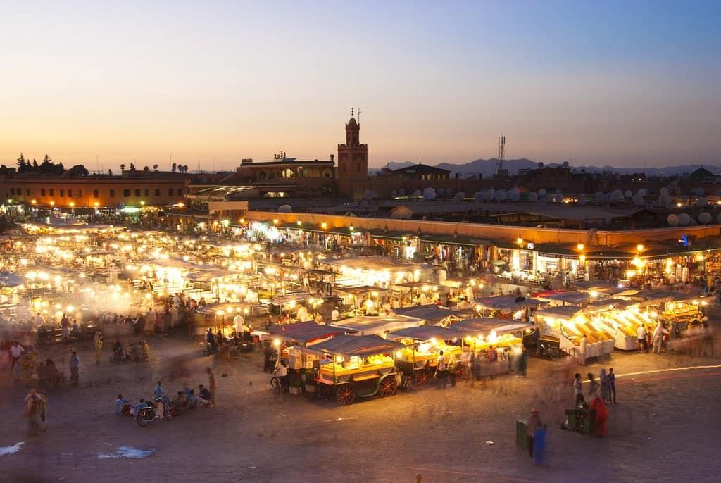 Jema el Fna market in Marocco