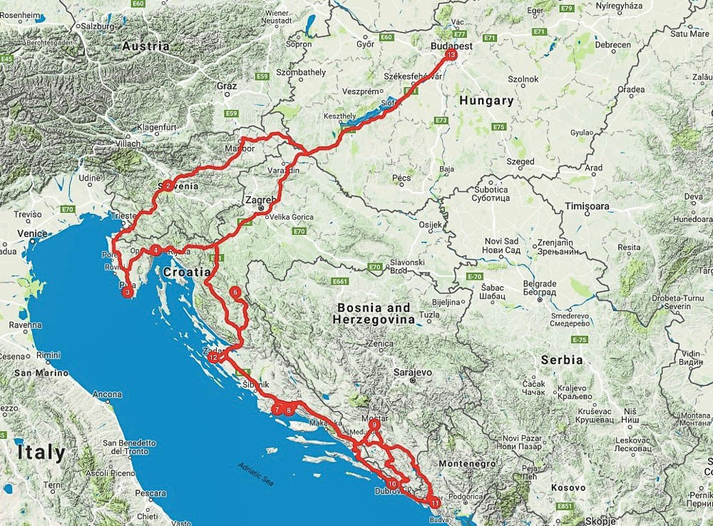 Best Balkan Road Trip Itinerary for 2 Weeks: Slovenia, Croatia & Montenegro