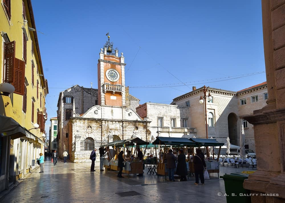 Day trips from Split: Zadar square