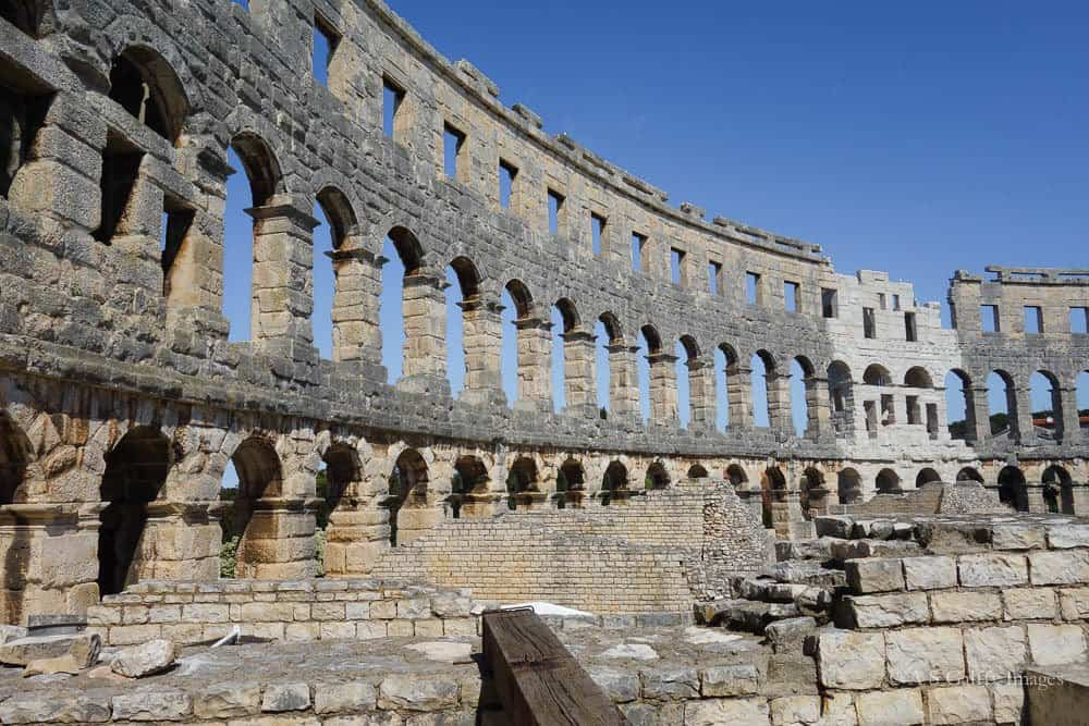 Travel to the Balkans: Roman Amphitheater in Pula