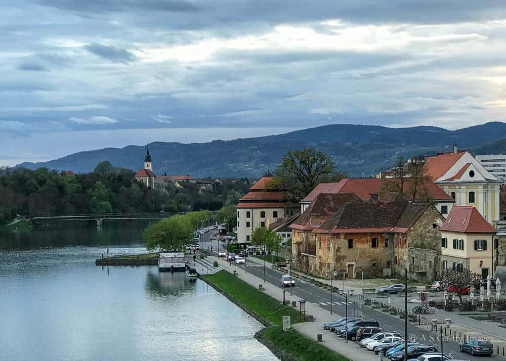 Image depicting the river bank in Maribor