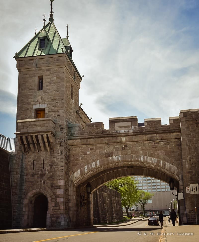 View of the City Wall, one of the Quebec City attractions