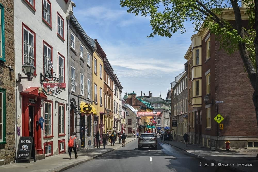 View of a street in Old Quebec, one of the Quebec City attractions