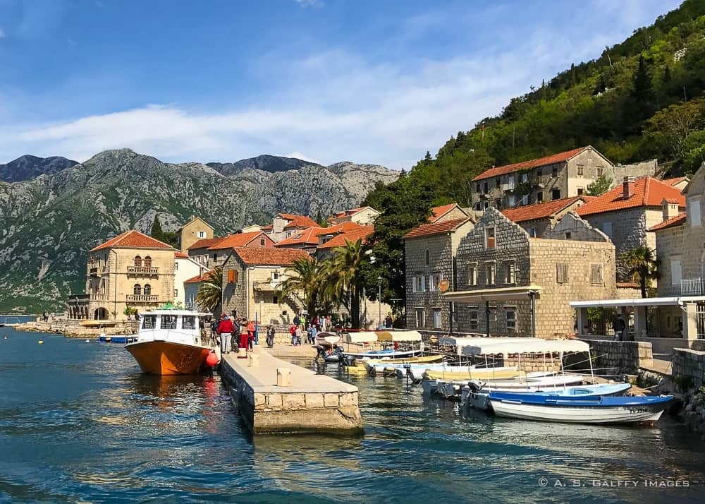 View of Perast, one of Montenegro tourist attractions