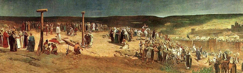 Image depicting Jan Styka's painting, The Crucifixion
