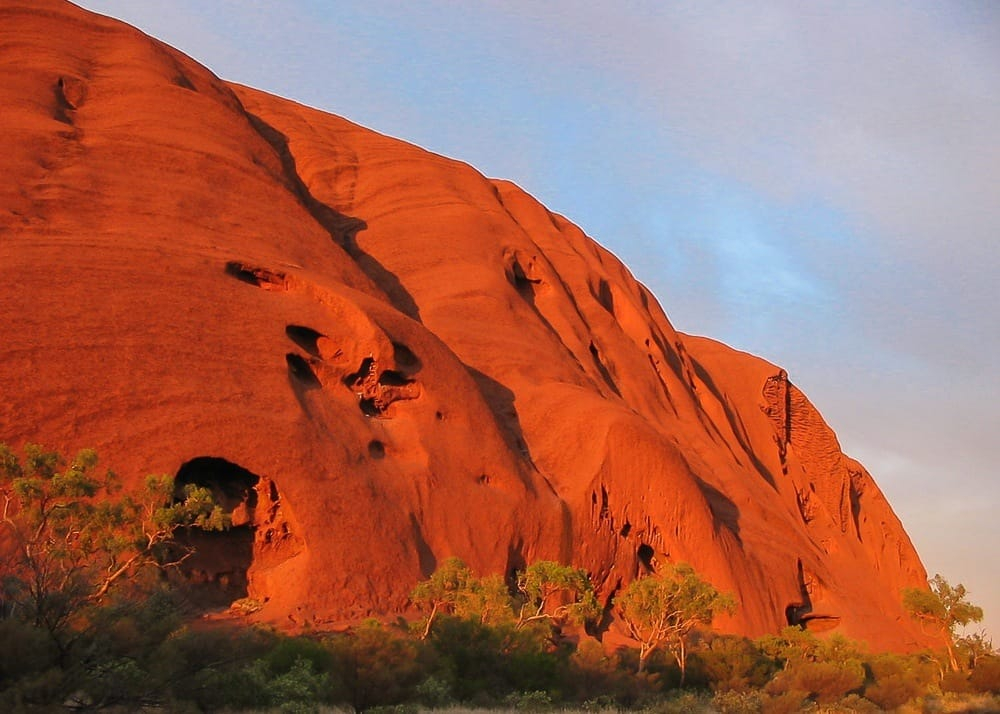 View of Uluru Rock on the Australian Outback