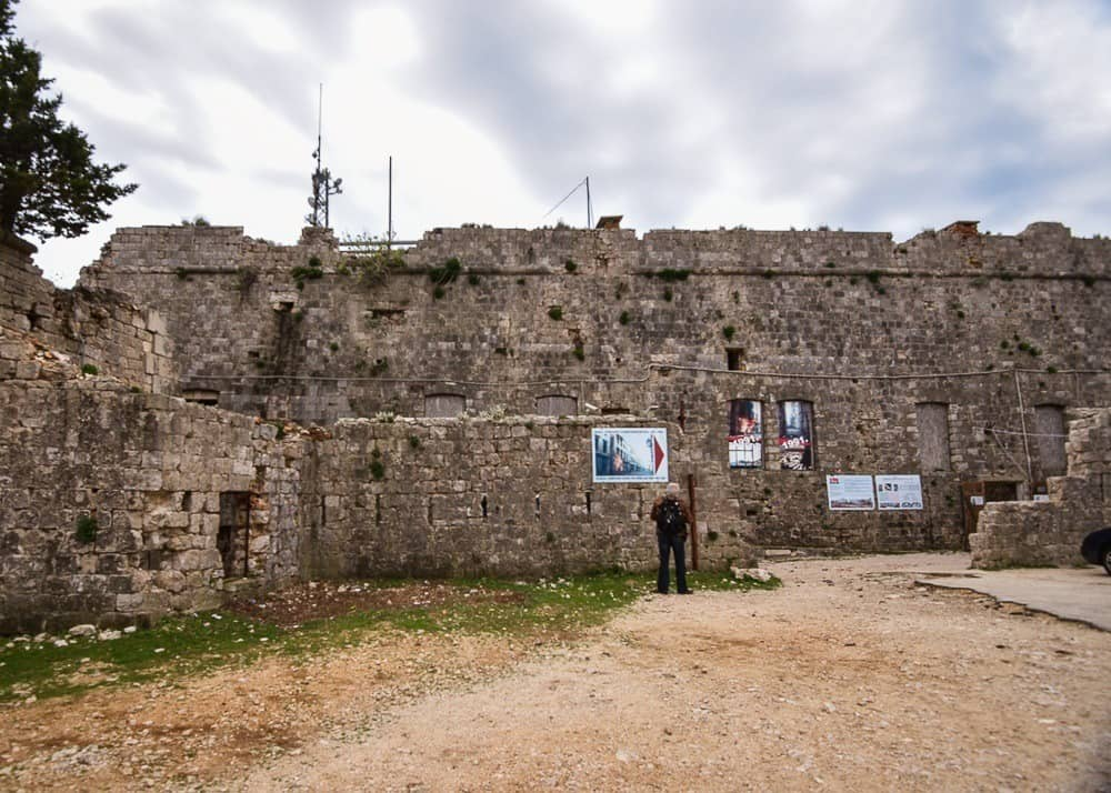 The walls of Fort Imperial in Dubrovnik
