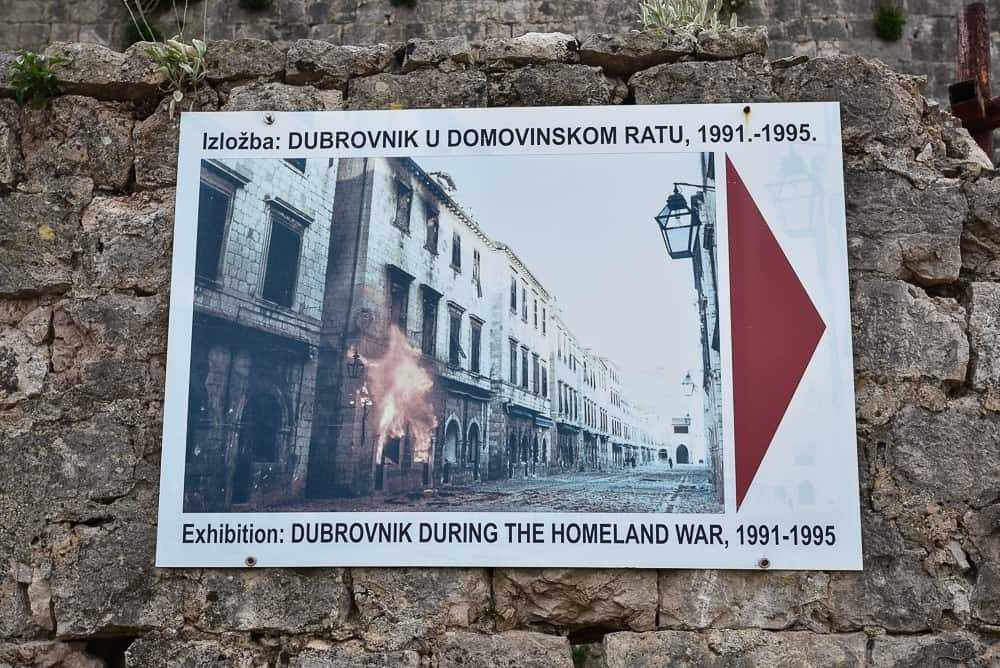 The Museum dedicated to the defense of Dubrovnik during the Homeland War