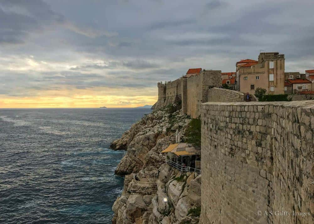 View of Dubrovnik city walls
