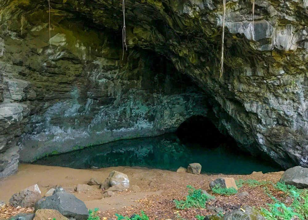 The cave near Ha'ena Beach in Kauai