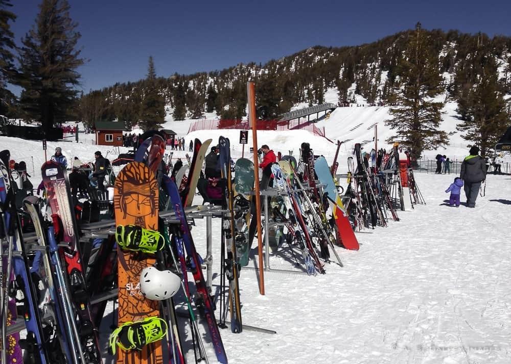 skiers in Big Bear