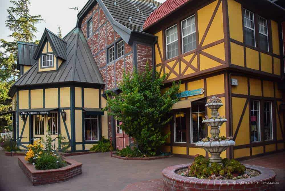 Timber houses in Solvang