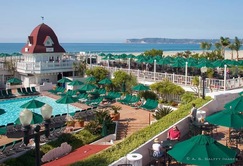 Hotel Coronado on Coronado Island, one of the most romantic gateways in California