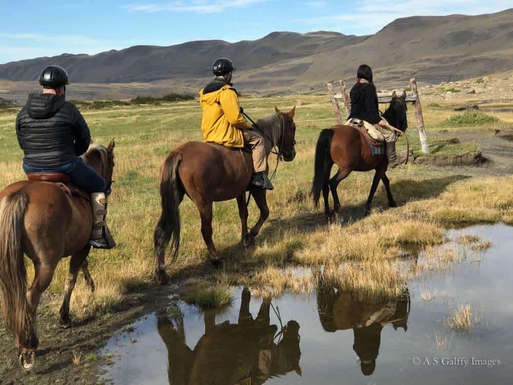 Horseback riding to Lago Nordenskjöld