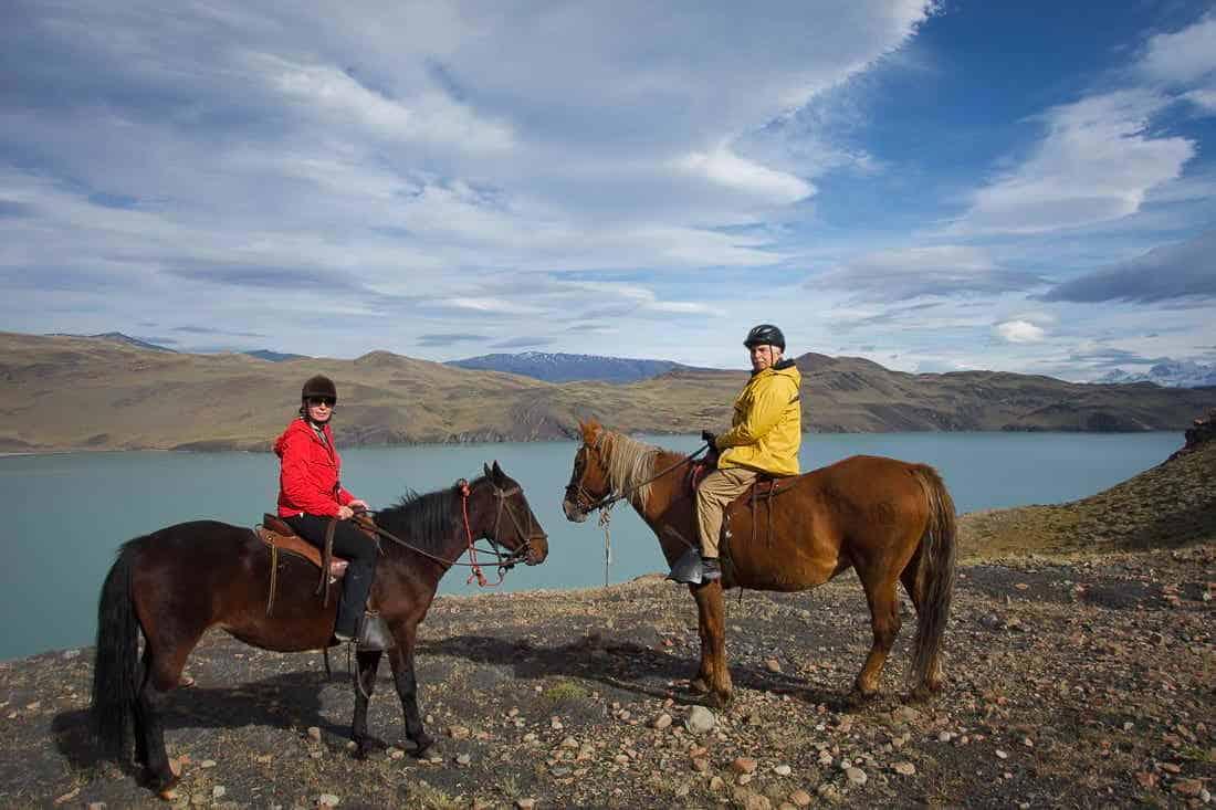 Horseback riding at Lago Nordenskjöld