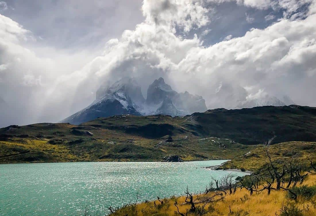 View of Los Cuernos del Paine