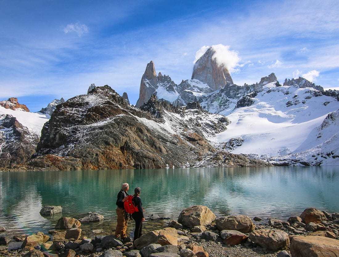 Hiking in Patagonia at Laguna de Los Tres