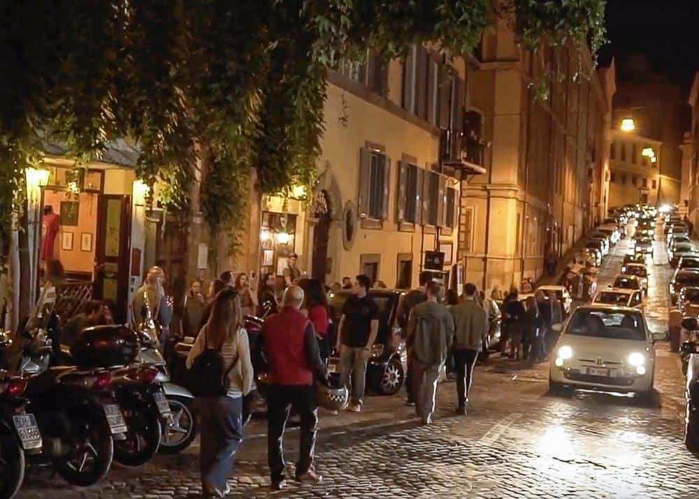 Street in Monti - best area to stay in Rome