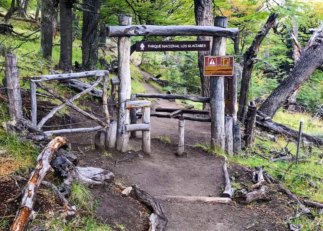 FitzRoy trek entrance to Los Glaciares National Park