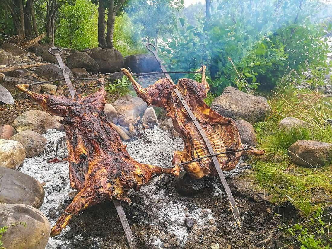 Patagonia roasted lamb