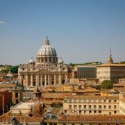View of the St. Peter Cathedral in Rome