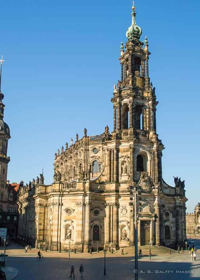 View of the Dresden Cathedral