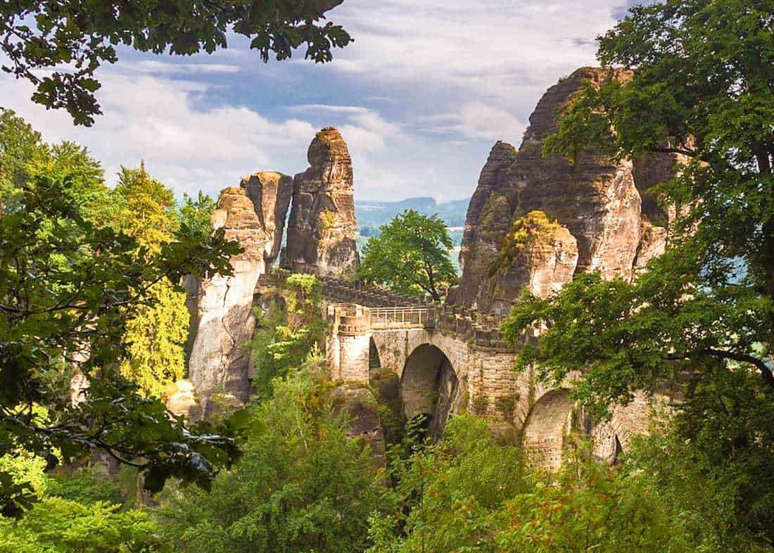 View of Bastei Rocks