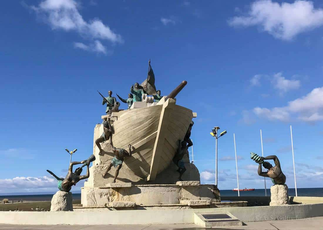 The Maritime Monument in Punta Arenas