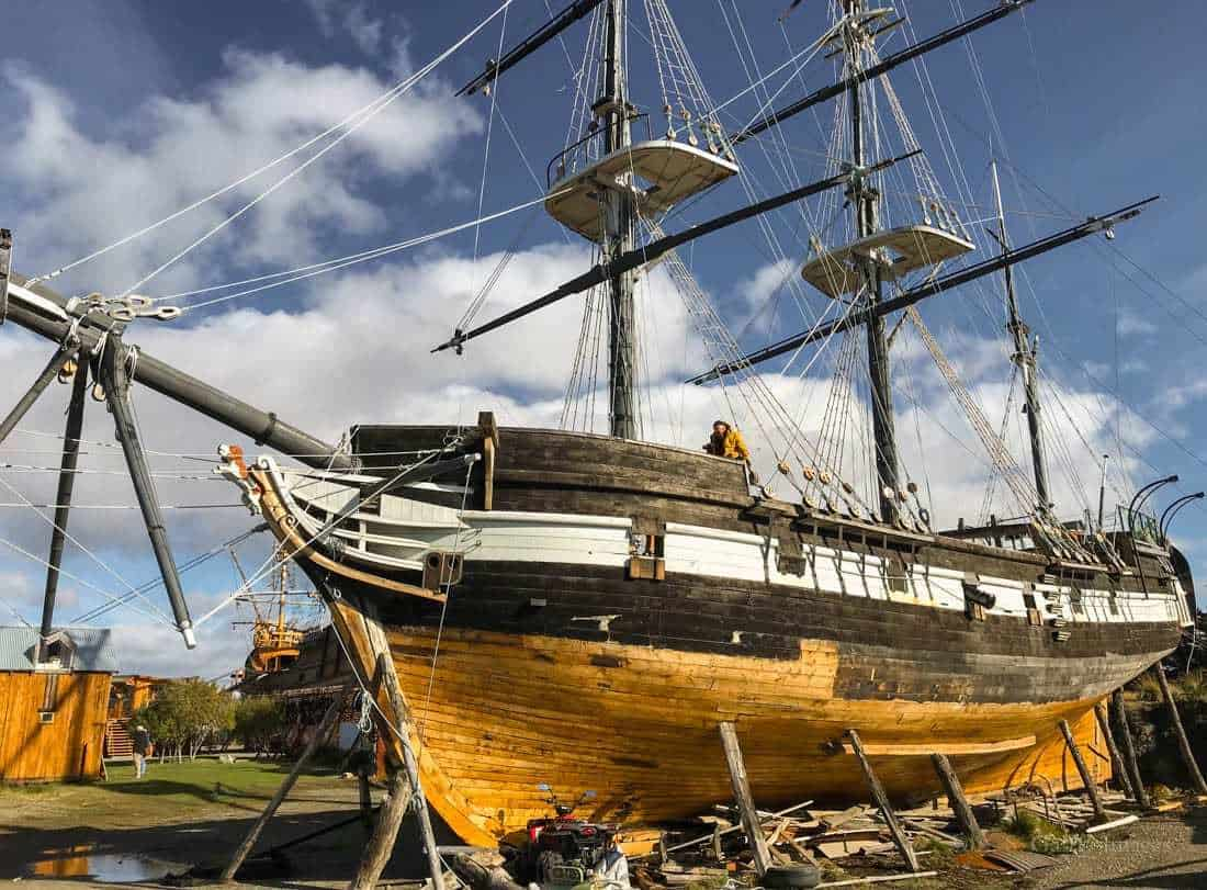 The HMS Beagle ship