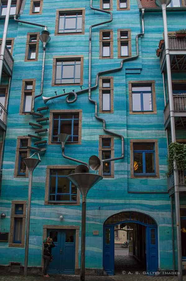 building in the Kunsthofpassage, Dresden