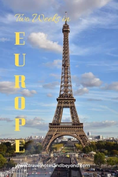 Two weeks in Europe pin