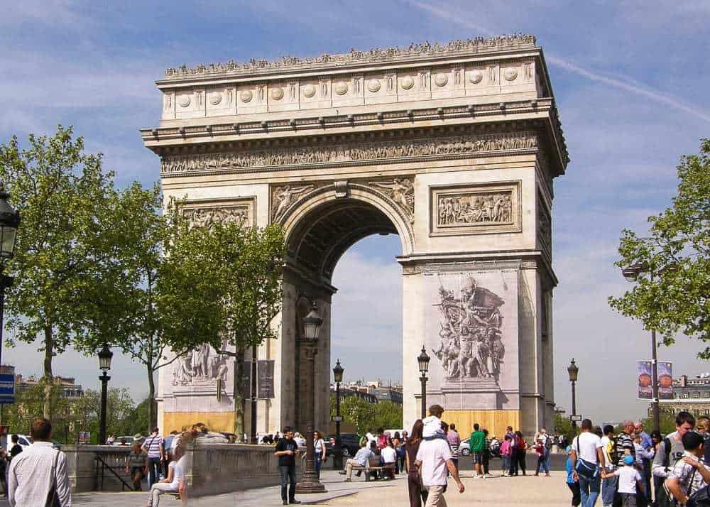 Arc de Triomphe de l'Étoile - 3 day Paris itinerary