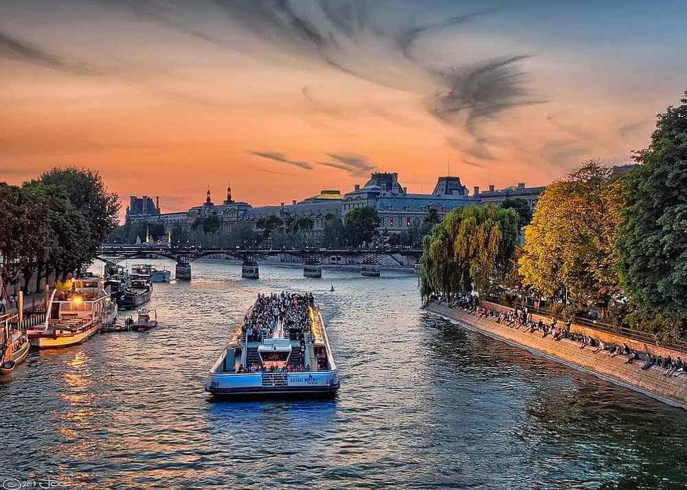 3 days in Paris boat tour on the Seine