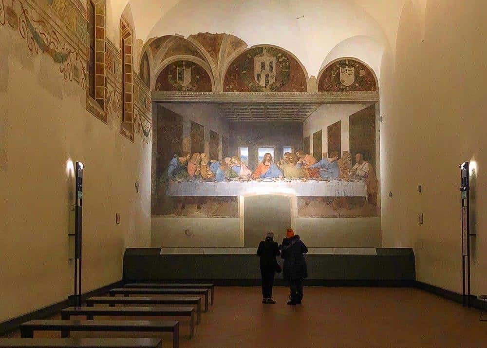 The Last Supper painting at Santa Maria delle Grazie, Milan