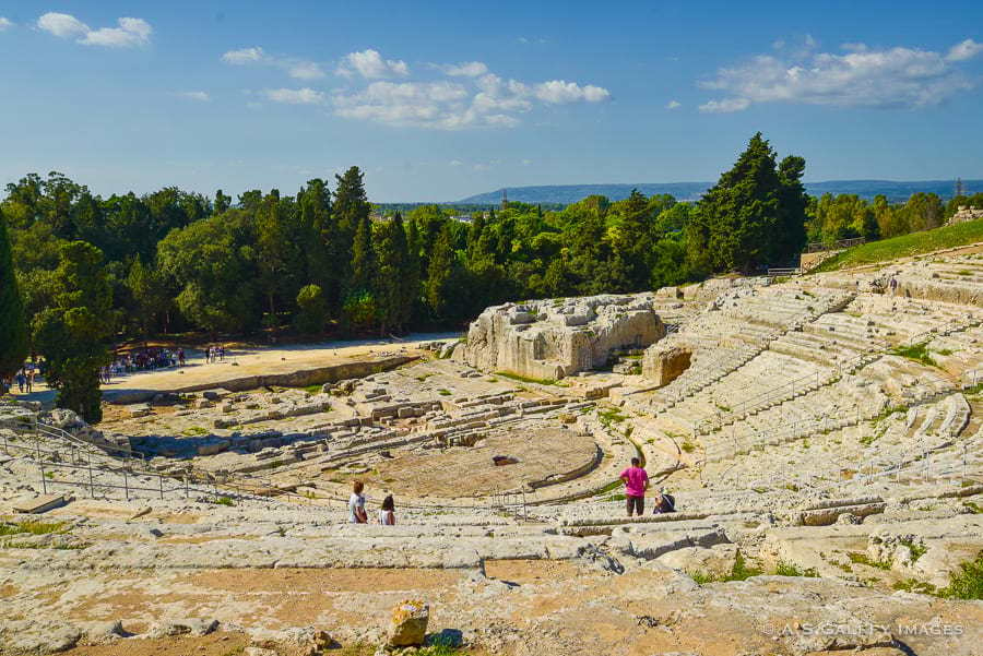 The Greek Theater in Siracusa, Sicily