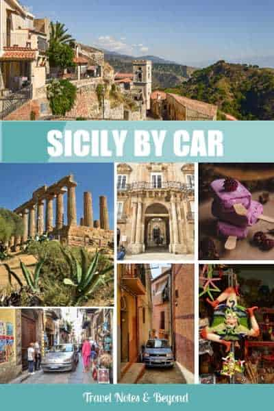 Visiting sicily by car pin