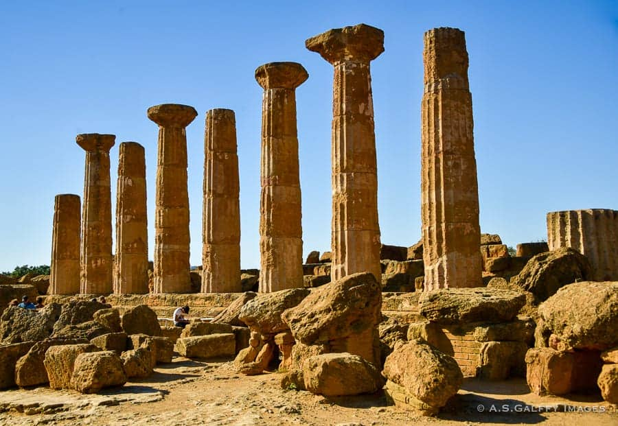 Temple of Heracles in the Valley of the Temples, Sicily