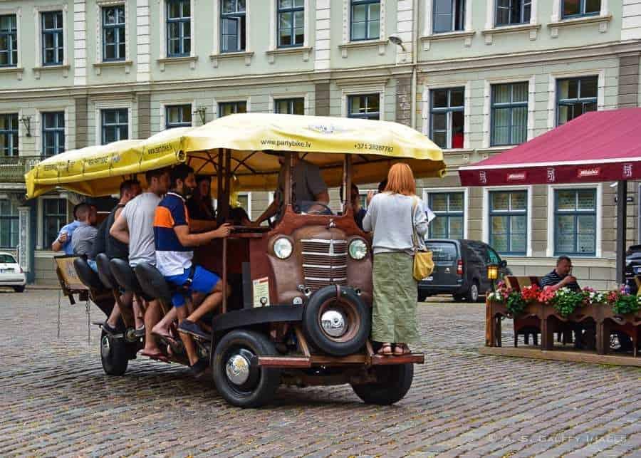 Beer biking in Riga - Europe bucket list