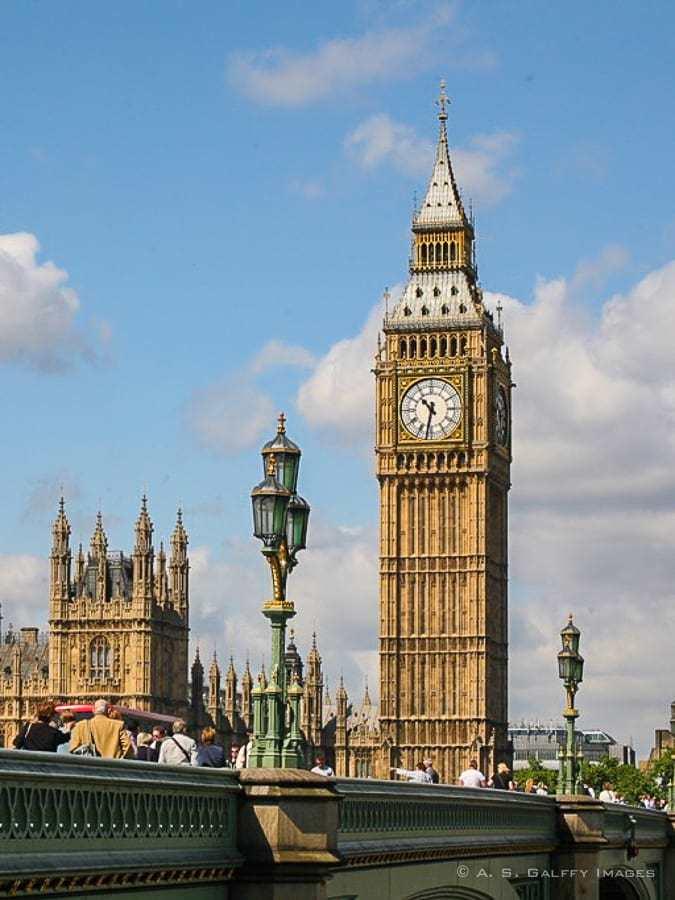 London's Big Ben - Europe bucket list