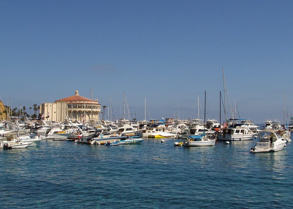 The port of Avalon on Catalina Island