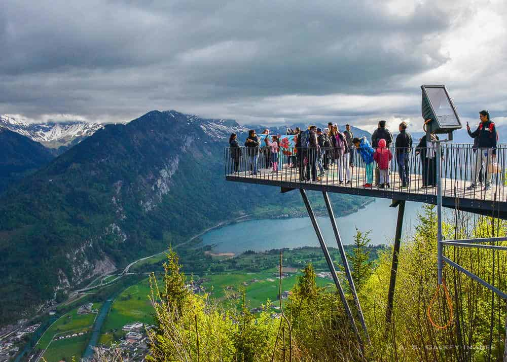 the viewing platform at Harder Kulm